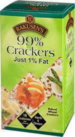 RAKUSENs 99% Crackers Herb & Onion 150g
