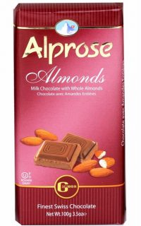 Alprose Almond Chocolate Bar 100G