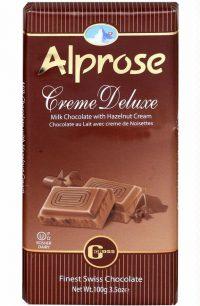 Alprose Cream Deluxe Chocolate Bar 100G