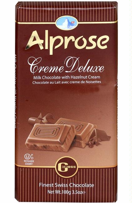 Alprose Cream Deluxe Chocolate Bar 100G