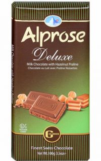 Alprose Deluxe Milk Chocolate Bar 100G