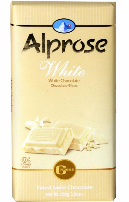 Alprose Deluxe White Chocolate Bar 100G