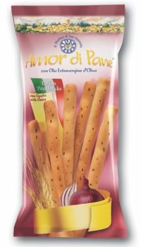 AMOR DI PANE Breadsticks Onion 125G