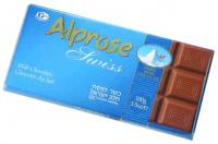 Alprose Swiss Milk Chocolate Bar 100G