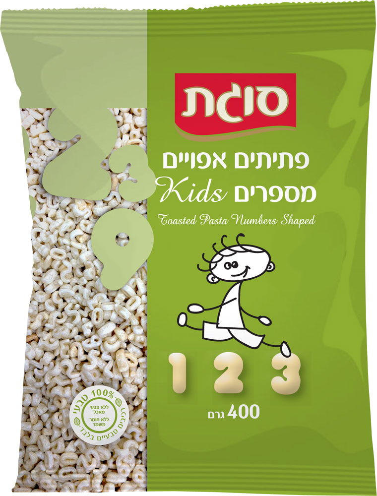 Baked Ptitim Shaped Numbers Sugat 400G