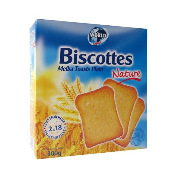 Biscottes Melba Toast Plain 300G
