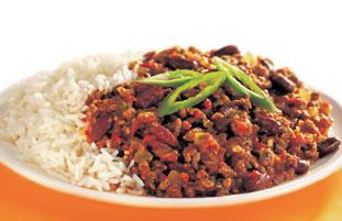 Chilli Con Carne with White Rice