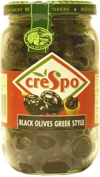 Crespo Dry Black Olives Greek Style 370G