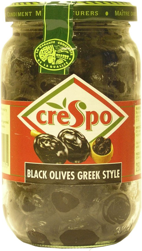 Crespo Dry Black Olives Greek Style 370G