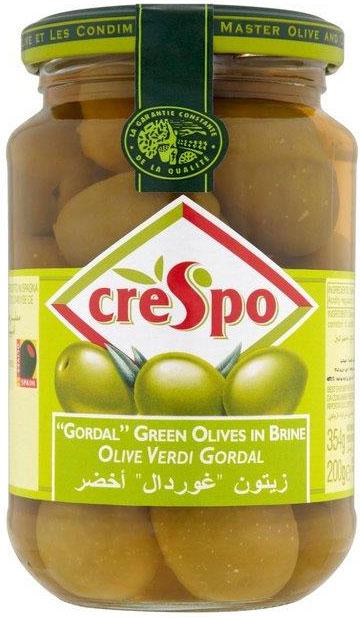 Crespo Large  Gordal Green Olives 360G