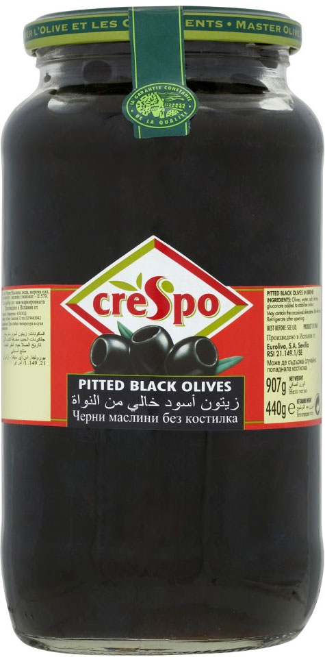 Crespo Pitted Black Olive 820G