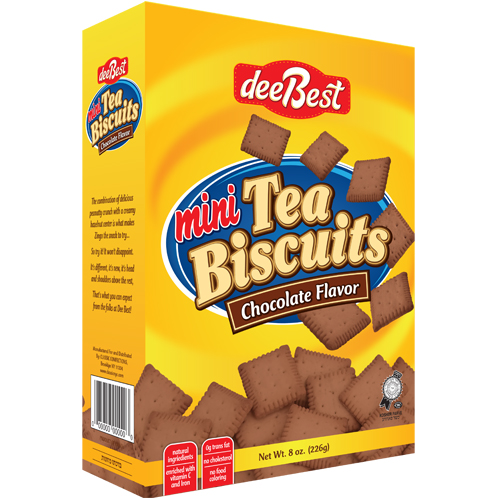 Dee Best Mini Chocolate Tea Biscuit Box 226G