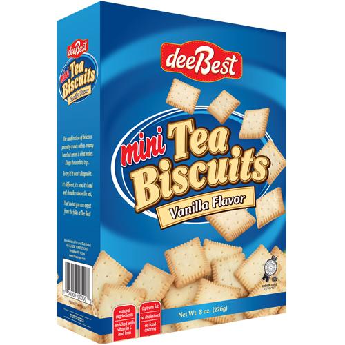 Dee Best Mini Vanilla Tea Biscuits Box 226G