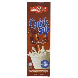 DeeBest Quick Sip Straws Chocolate x10 60G
