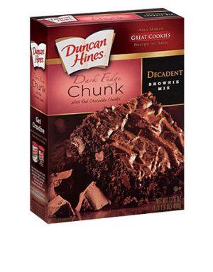 Duncan Hines Dark Fudge Brownie  561G
