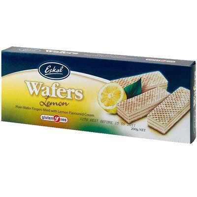 Eskal Gluten Free Lemon Wafer 200G