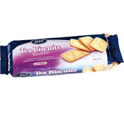 Eskal Gluten Free Tea Biscuits Vannila 200G