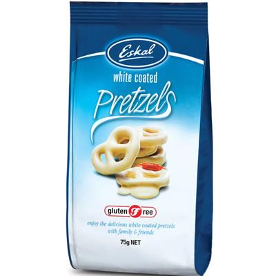 Eskal Gluten Free White Coated Pretzel 75G