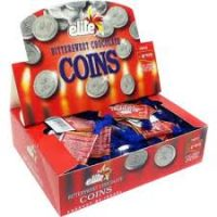 Megadim Elite Chocolate Coins Small Bags Pareve 24 Pc 15G