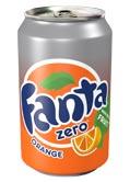 Fanta Zero Orange Can 330ml