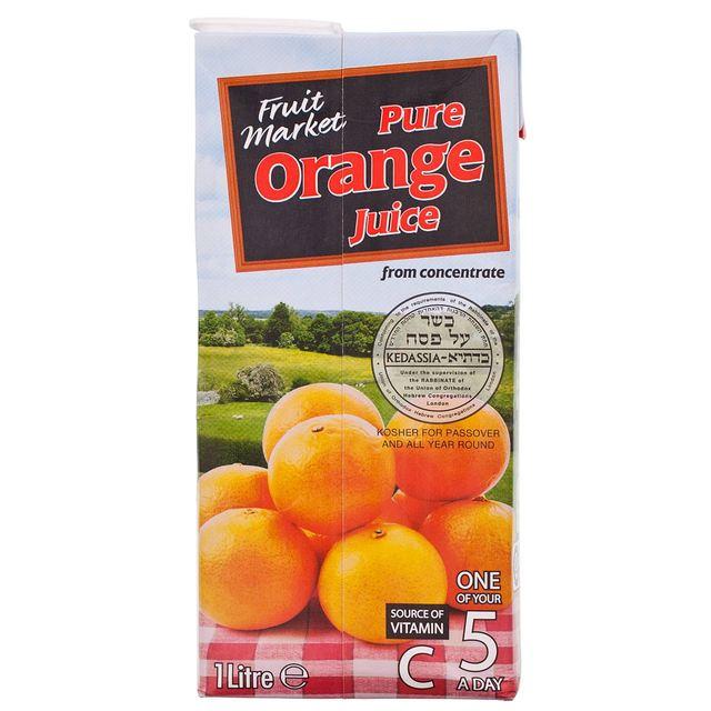 Fruit Market Orange Juice - Tetra  1l
