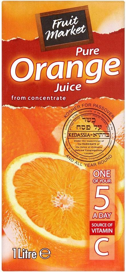 Fruitmarket Orange Juice 1L  *Kdsa*