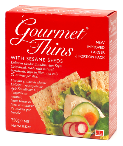 GOURMENT THINS with Sesame Seeds  250g