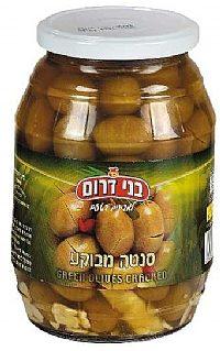 Green Cracked Olives Jar 700G