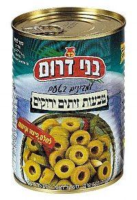 Green Sliced Olives Rings Tins 560G