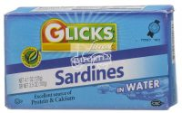 Glick's Sardines in Water from Morocco 124G