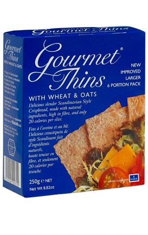Gourmet Thins Wheat Oat 250G