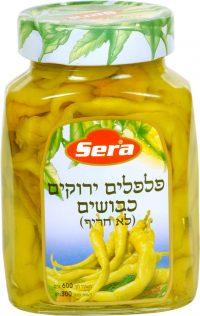 Green Pickled Peppers Mild Serra 600G