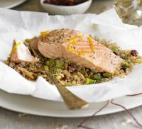 Grilled Salmon with Couscous 400G