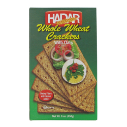 Hadar Whole Wheat Oat Cracker Green 250G
