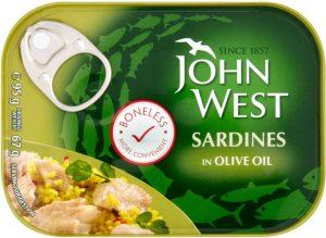 John West Boneless Sardines In Oil 95G