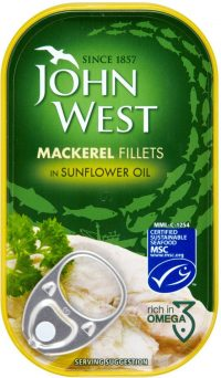 John West Mackerel Fillets In Oil 125G