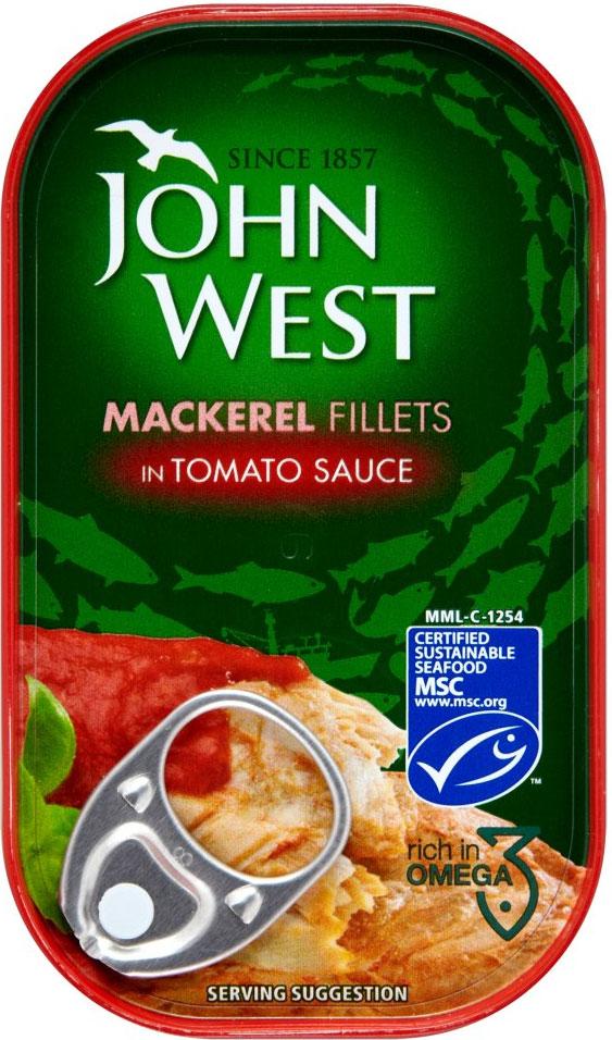 John West Mackerel Fillets Tomato 125G