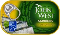 John West Sardines Sunflower Oil 120G