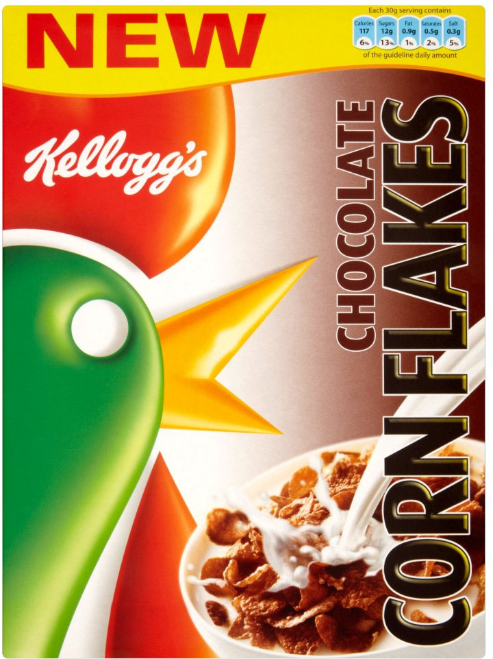Kelloggs Chocolate Corn Flakes 375G