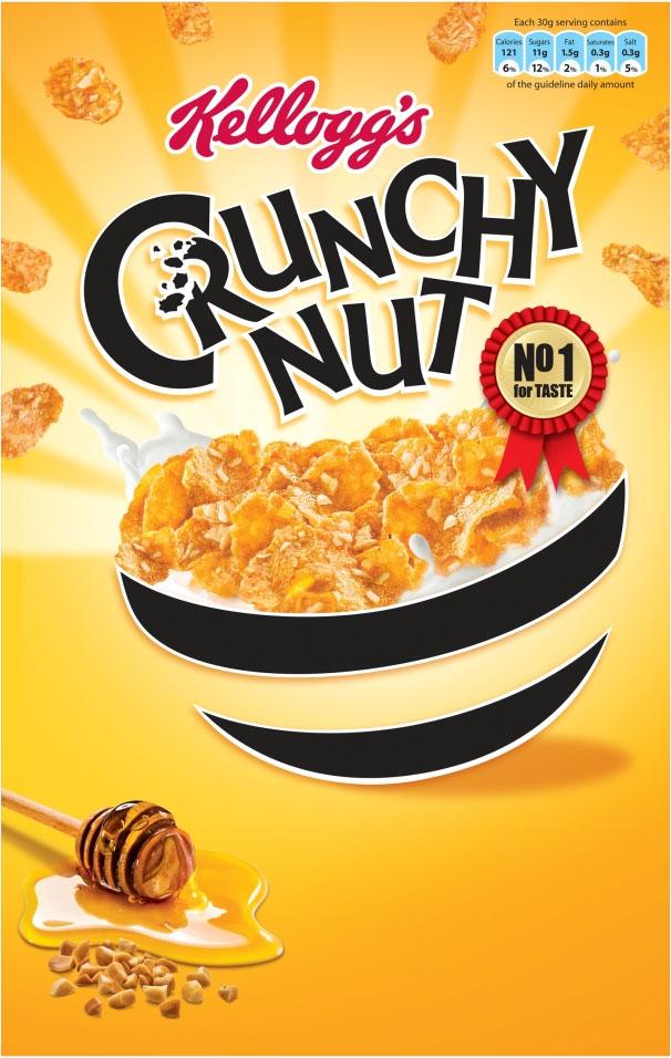 Kelloggs Crunchy Nut Corn Flakes 375G