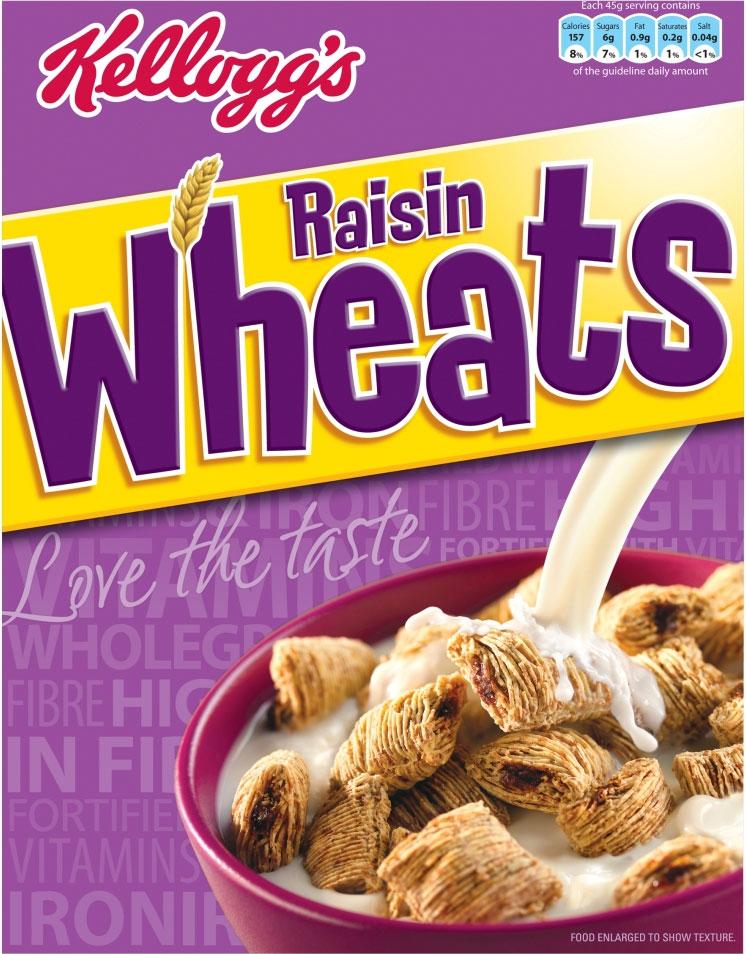 Kelloggs Raisin Wheat 500G