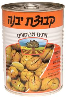 Kvutzat Yavne Green Spicy Crack Olives 560G
