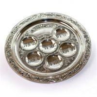 Matzo Plate Silver 1