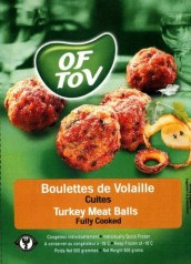 Meatballs Turkey 500G