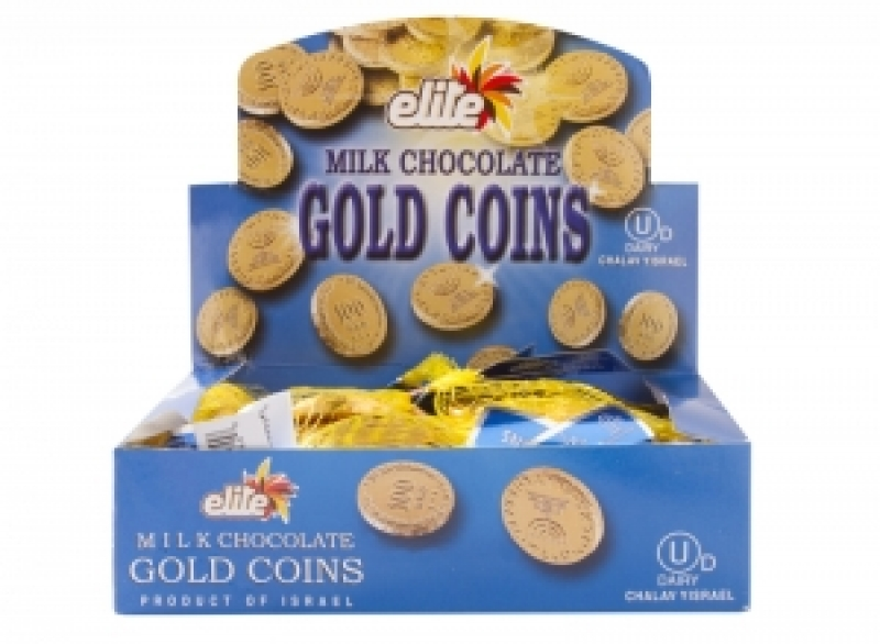 Megadim Elite Chocolate Coins Large Bag Milky 25 Pc 75G