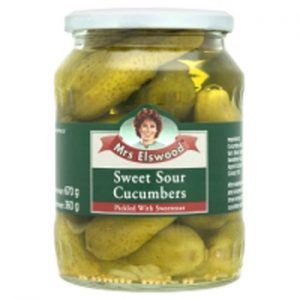Mrs.ELSWOOD Sweet Cucumbers Slices - 6 PACK