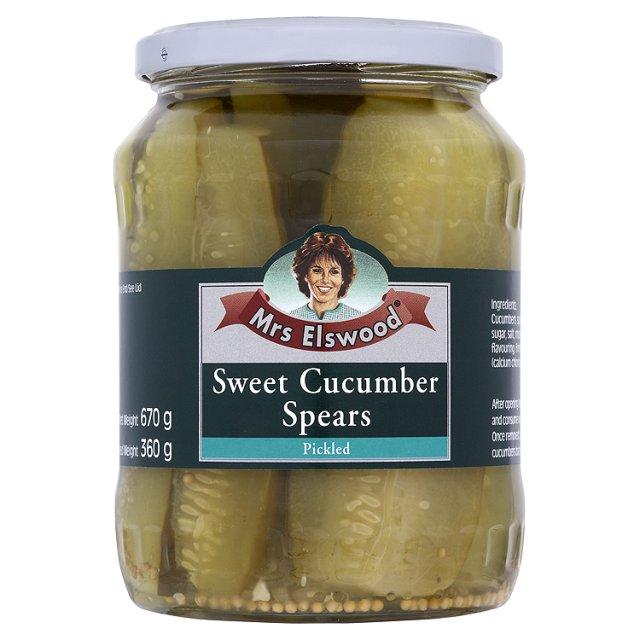 Mrs.ELSWOOD Sweet Cucumbers Spears - 6 PACK