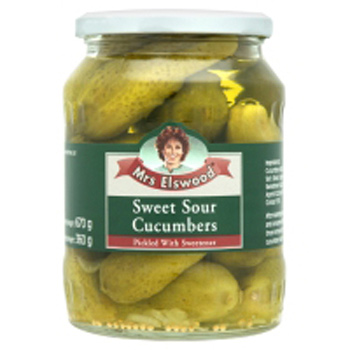Mrs.ELSWOOD Sweet and Sour Cucumbers - 6 PACK