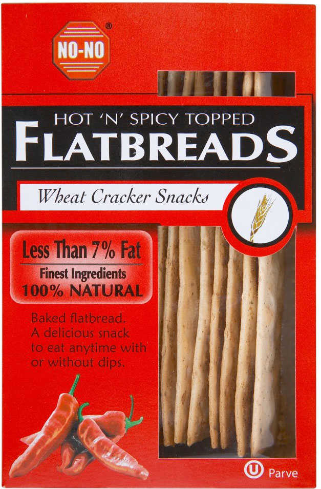 No-No Low Fat Hot & Spicy Flat Breads 125G