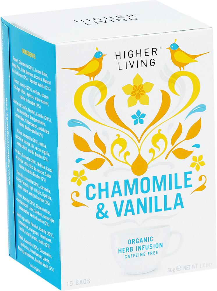 Organic Chamomile Vanilla Tea Higher Living 15